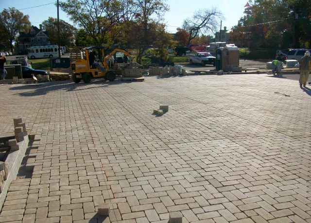 Permeable Pavement Portfolio : aia-string-lines-mechanical-installer