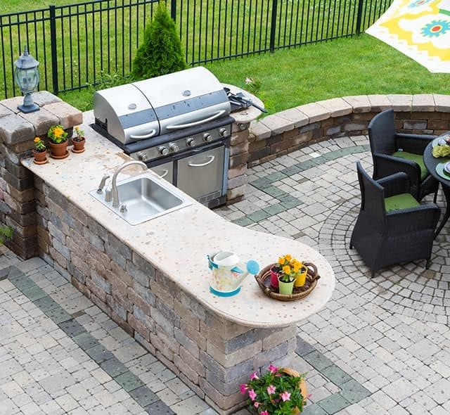 Pleasing Outdoor Kitchens Fireplaces Fred Adams Paving Download Free Architecture Designs Scobabritishbridgeorg